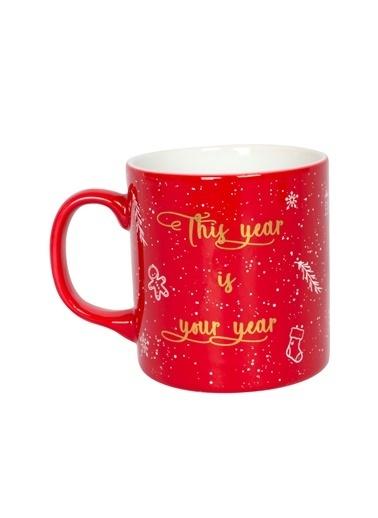 Rakle 320 cc Happy New Year Mug Kırmızı Kırmızı